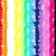 Kit 40 Marabus Sintéticos Coloridos Com Fios Metalizados 75Cm