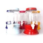 Kit 4 Suqueira De Plástico Com Base Cores Sortidas