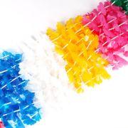Kit 60 Colares Havaianos Plastico + 40 Enfeites P/ Drink - Sortidos