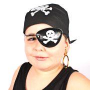 Kit Com 15 Kits Pirata ( Bandana, Tapa Olho E Brinco )