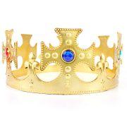 Kit Coroa Plástica Rei Rainha + Coroa Princesa C/ Marabú
