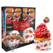 Kit Cupcake Carros 30Un