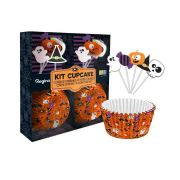 Kit Cupcake Halloween com 30 unidades