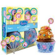 Kit Cupcake Peppa Pig 30Un