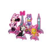 Kit Decora��o de Mesa Minnie Rosa 6un