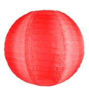 Luminária Redonda Tecido 30Cm Vermelha