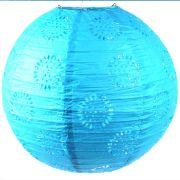 Luminária Vazada Azul de Papel
