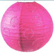 Luminária Vazada Pink de Papel
