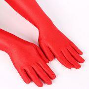 Luva Longa Vermelha de Tecido (Par)