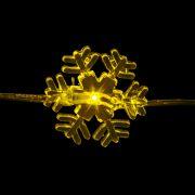 Luz Led Floco De Neve Amarelo 3M A Pilha