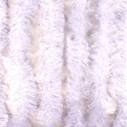Marabu Sintético Com Fios Metalizados Branco