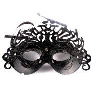 Máscara Veneziana Luxo Preta