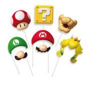 Plaquinhas Divertidas Super Mario 8 unidades