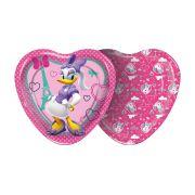 Prato Coração Minnie Rosa 8Un