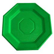 Prato Descartável Oitavado 16cm Verde Escuro 10Un.