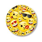 Prato Redondo 18cm Emoji 8 unidades