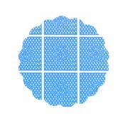 Tapetinho 7Cm Azul 100Un