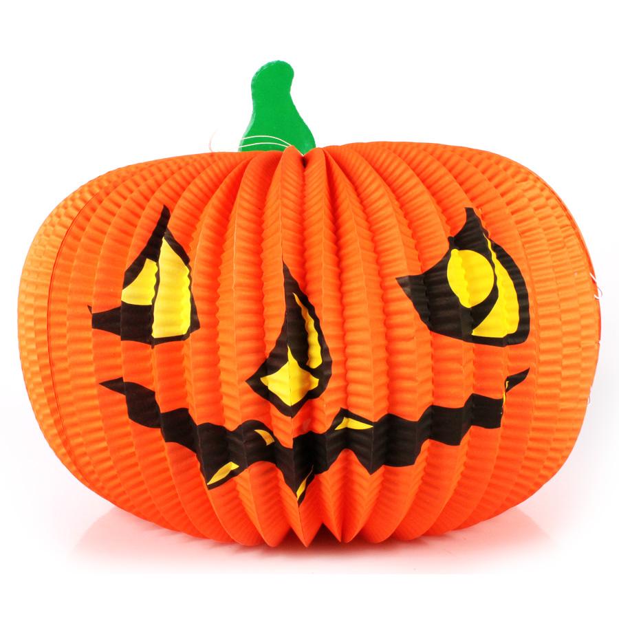 Enfeite Abóbora de Papel para Halloween