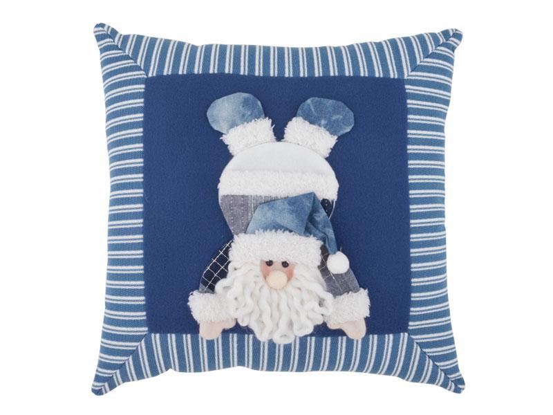 Almofada Papai Noel Azul Celeste 35Cm