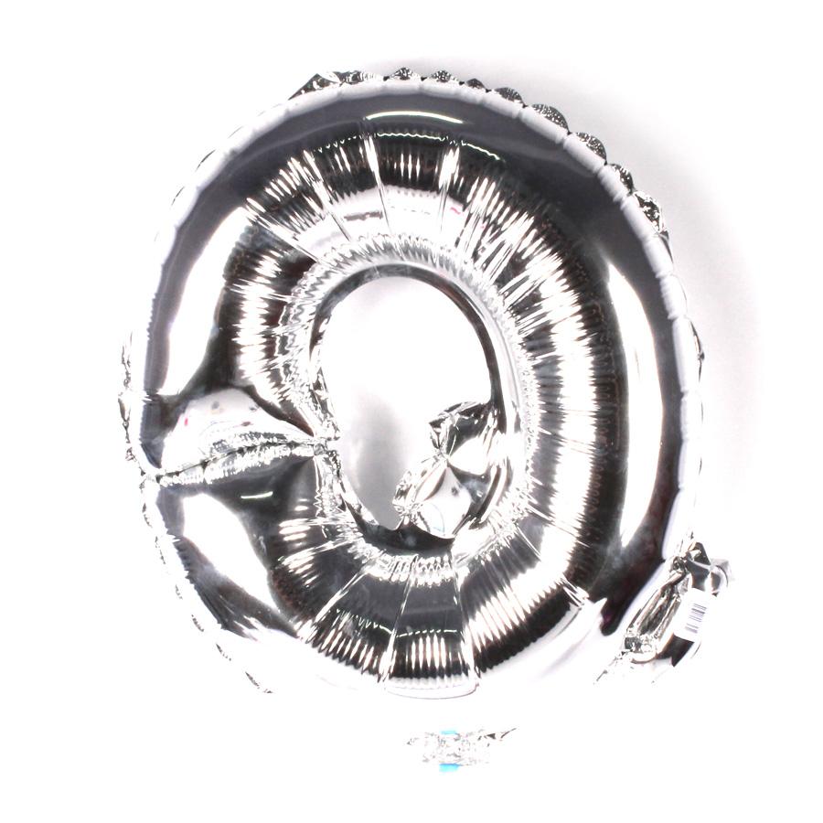 Balão Metalizado Letra Q Prata