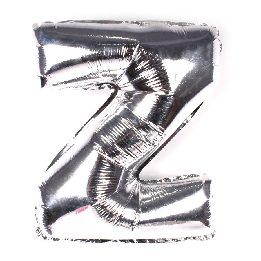 Balão Metalizado Letra Z Prata