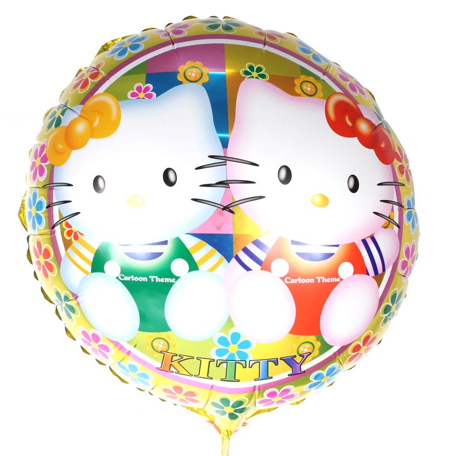 Balão Metalizado Redondo Hello Kitty