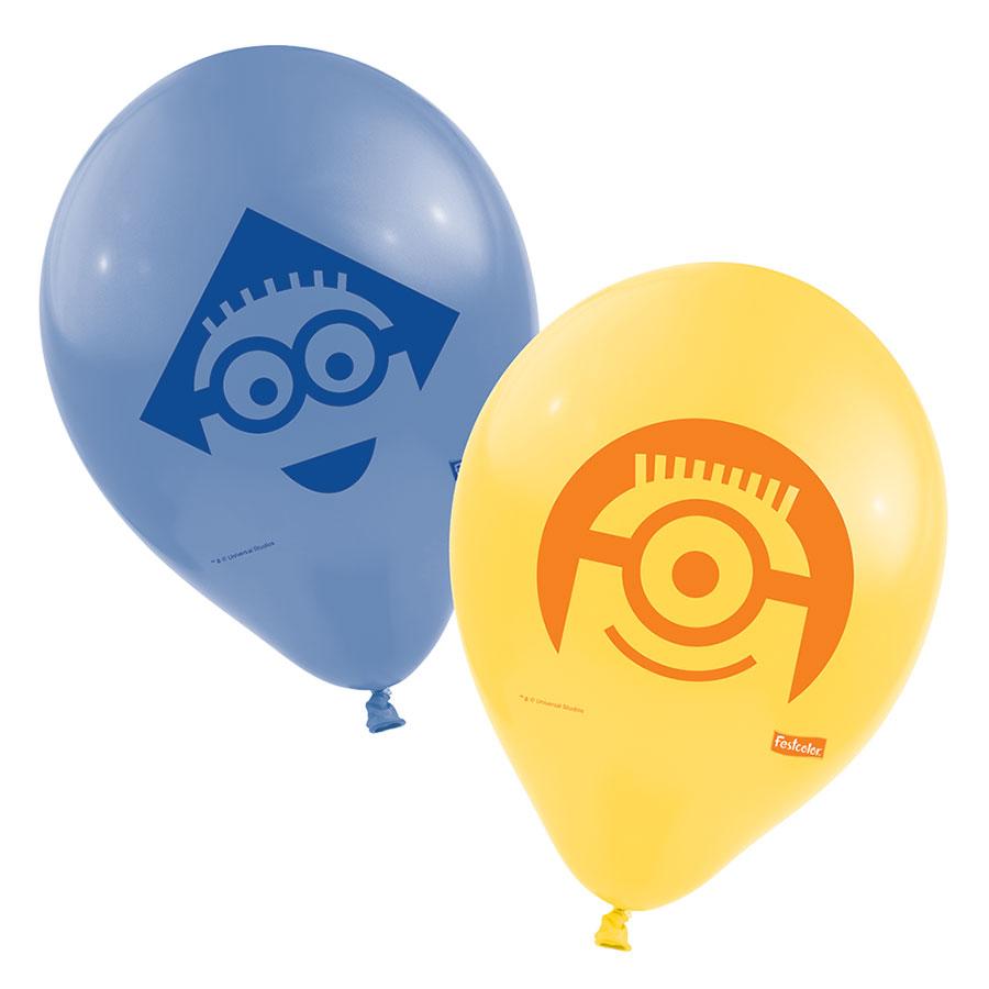 Balão Nº9 Minions 25Un