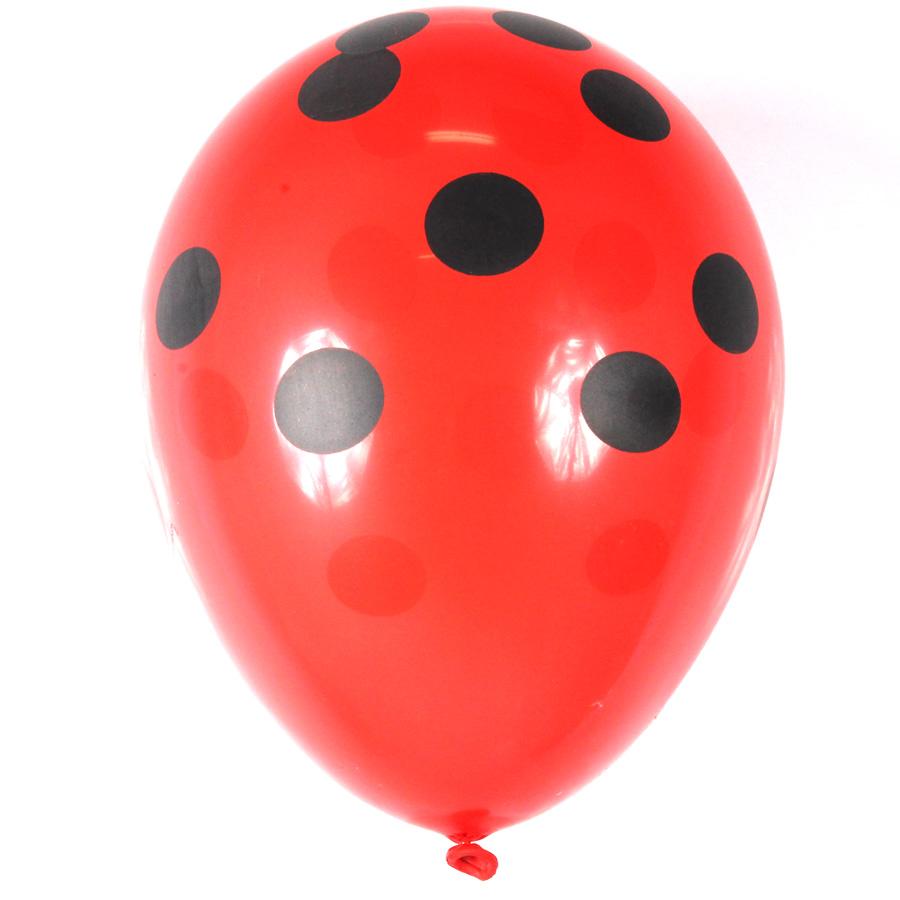 Balão São Roque Nº 9 C/25 Poá Vermelho E Preto