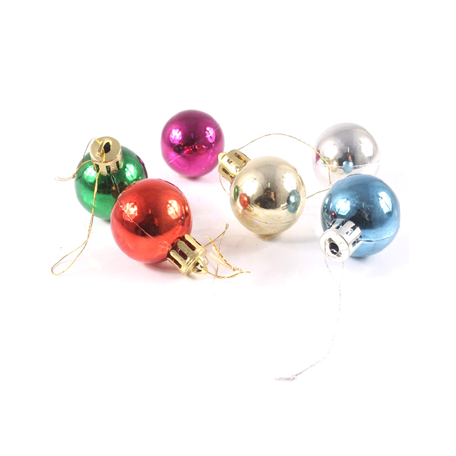 Bola De Natal 3Cm 6Un Coloridas
