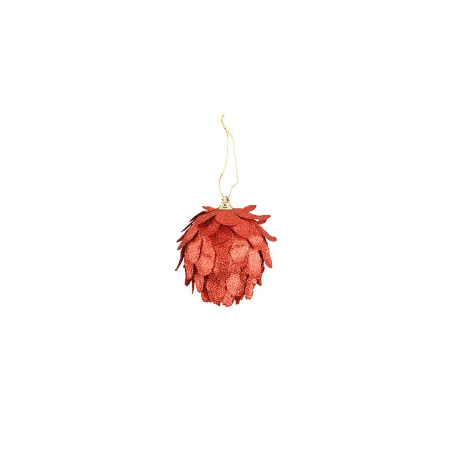 Bola Ouriço Vermelha Luminare 8Cm