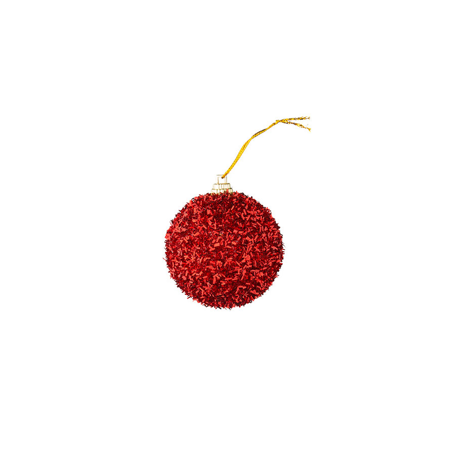Bolas Fio Vermelha Luminare 5,7Cm Com 12Unidades