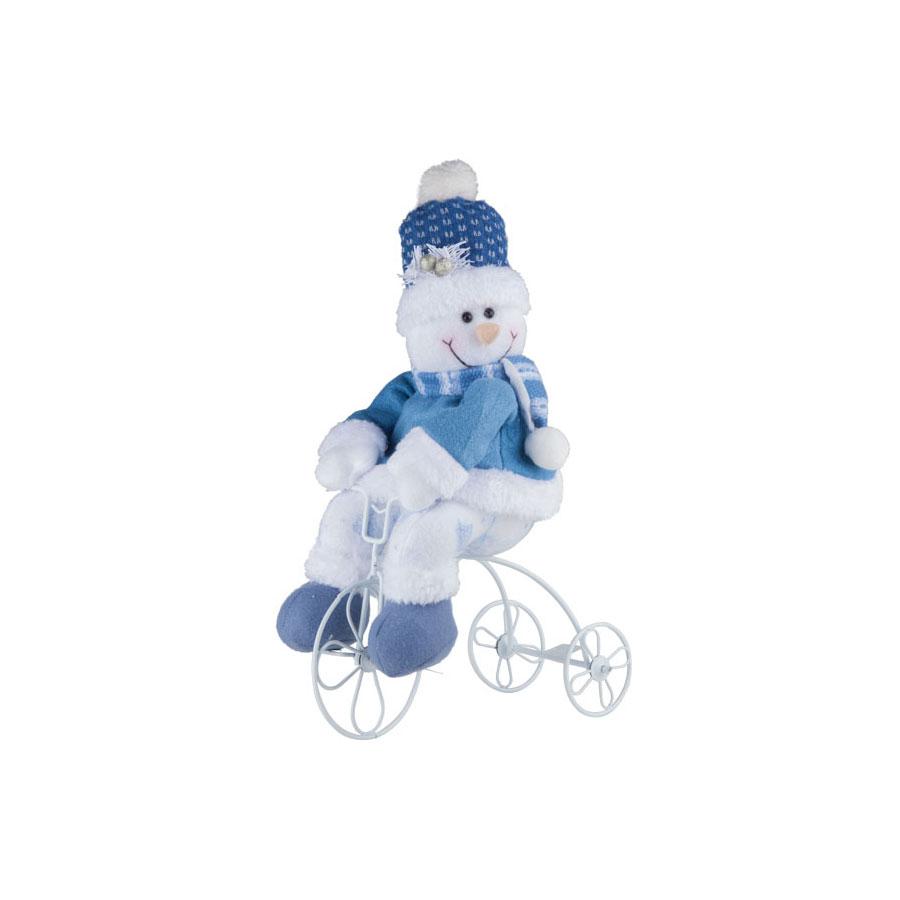 Boneco De Neve Triciclo 22Cm Celeste