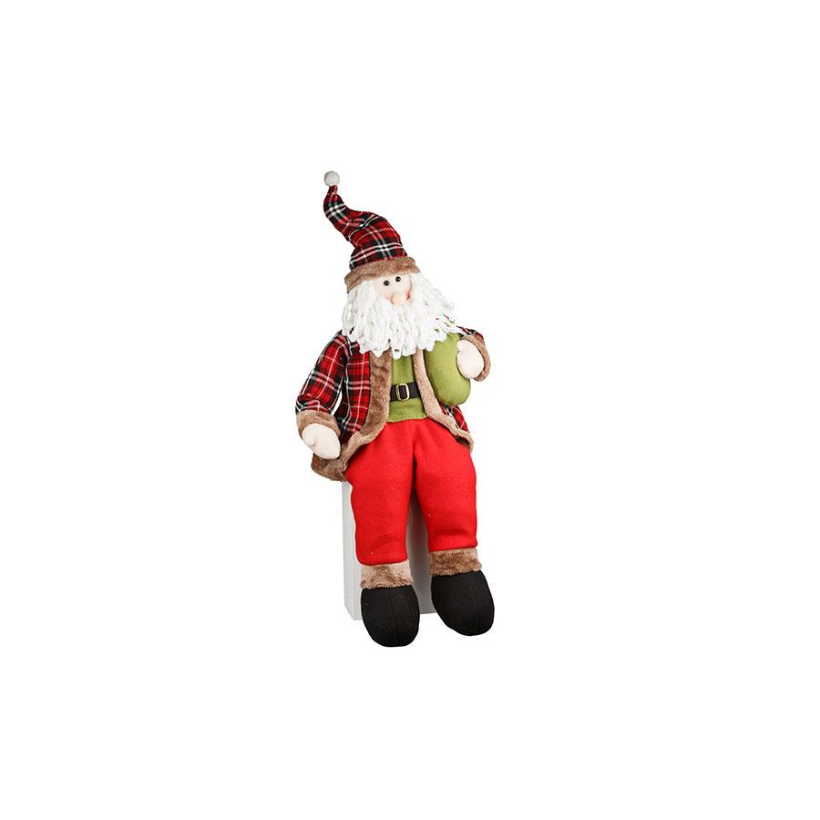 Boneco Papai Noel Sentado Country Un