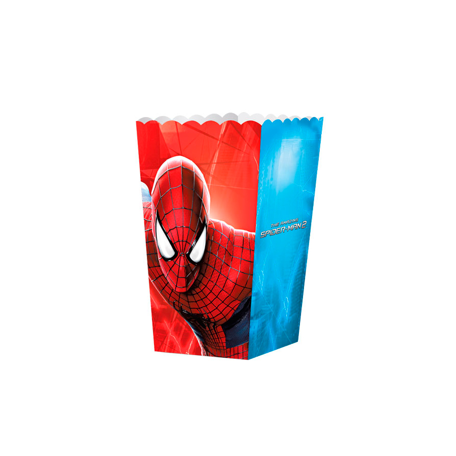 Caixa Para Pipoca Homem Aranha 8Un