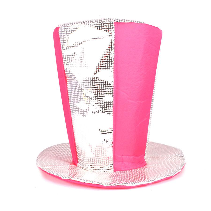 Cartola Alta Pink Com Paetê