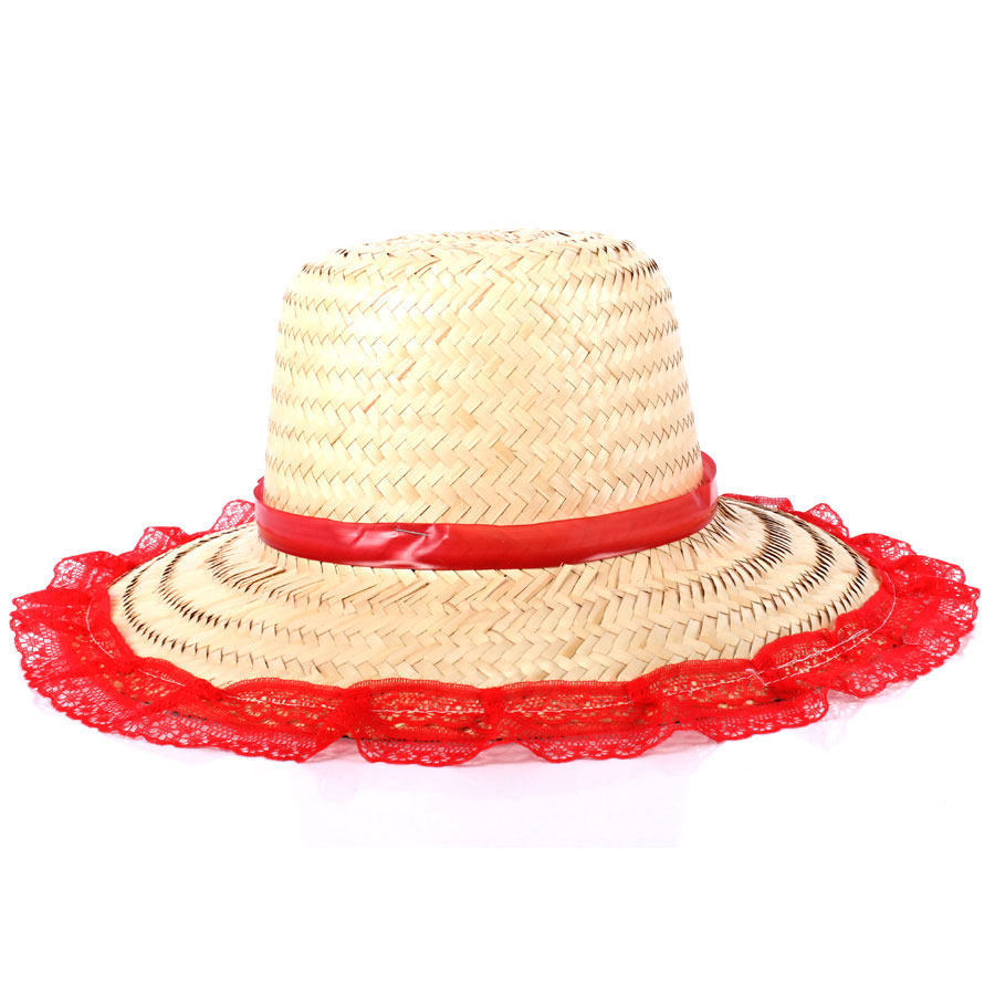 Chapéu De Palha Adulto Feminino