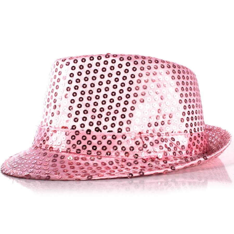 Chapéu Malandro Paetê Rosa
