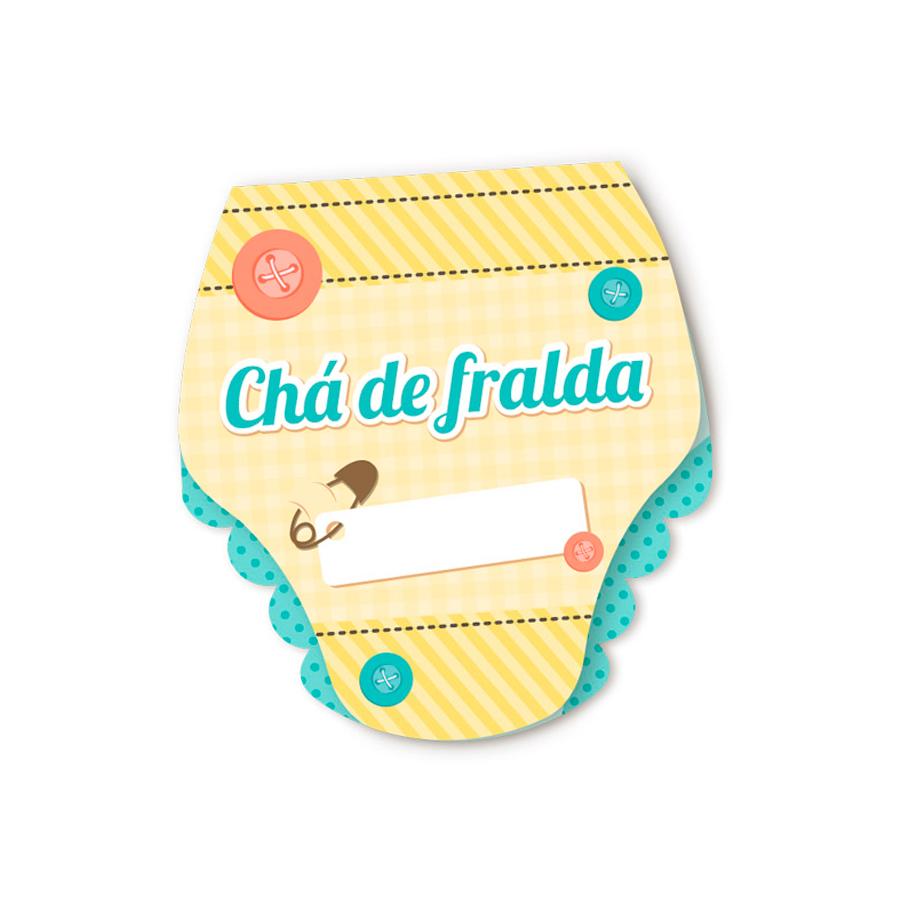 Convite Chá De Fraldas 8Un