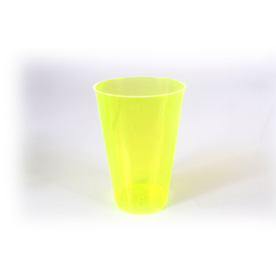 Copo Acrílico 300Ml Amarelo Com 10 Unid