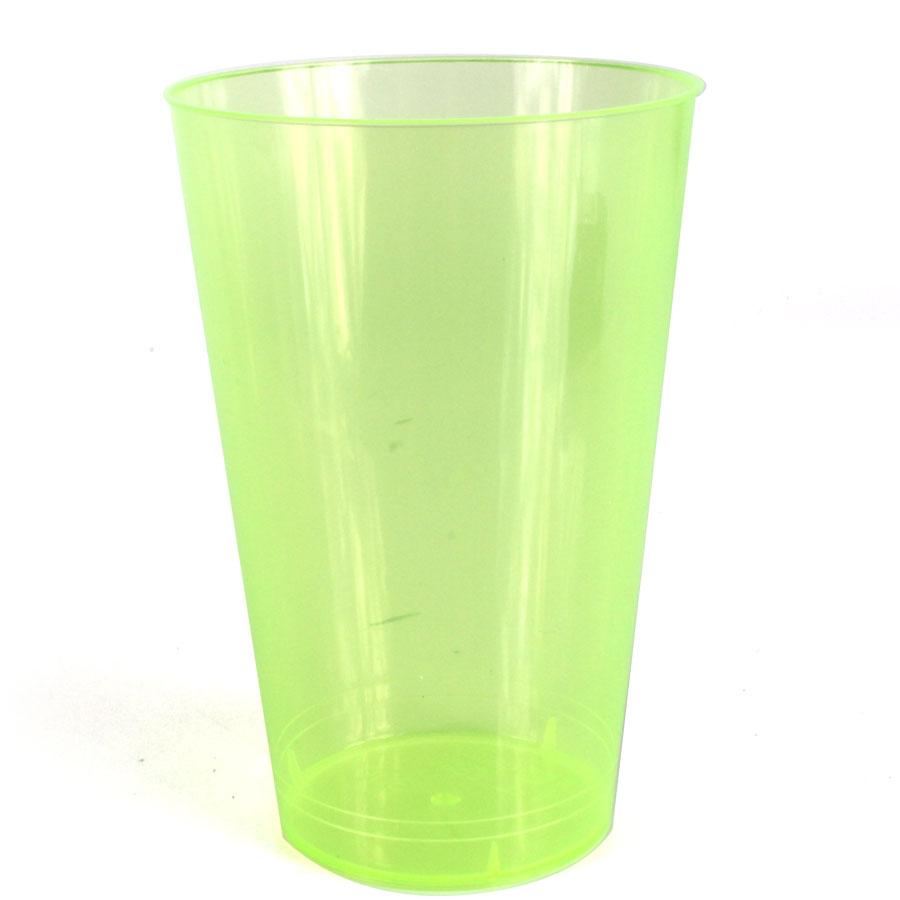 Copo Acrílico 300Ml Verde Limão Com 10Un