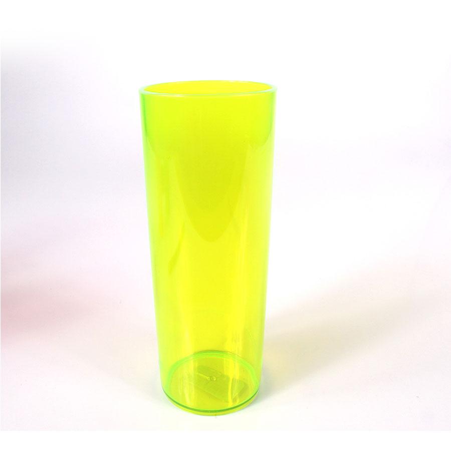 Copo Acrílico Long Drink 350Ml Amarelo