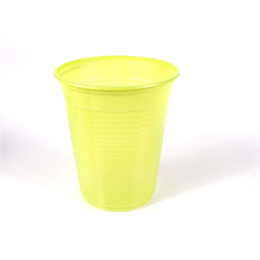 Copo Descartável 200Ml Verde Limão 50Un