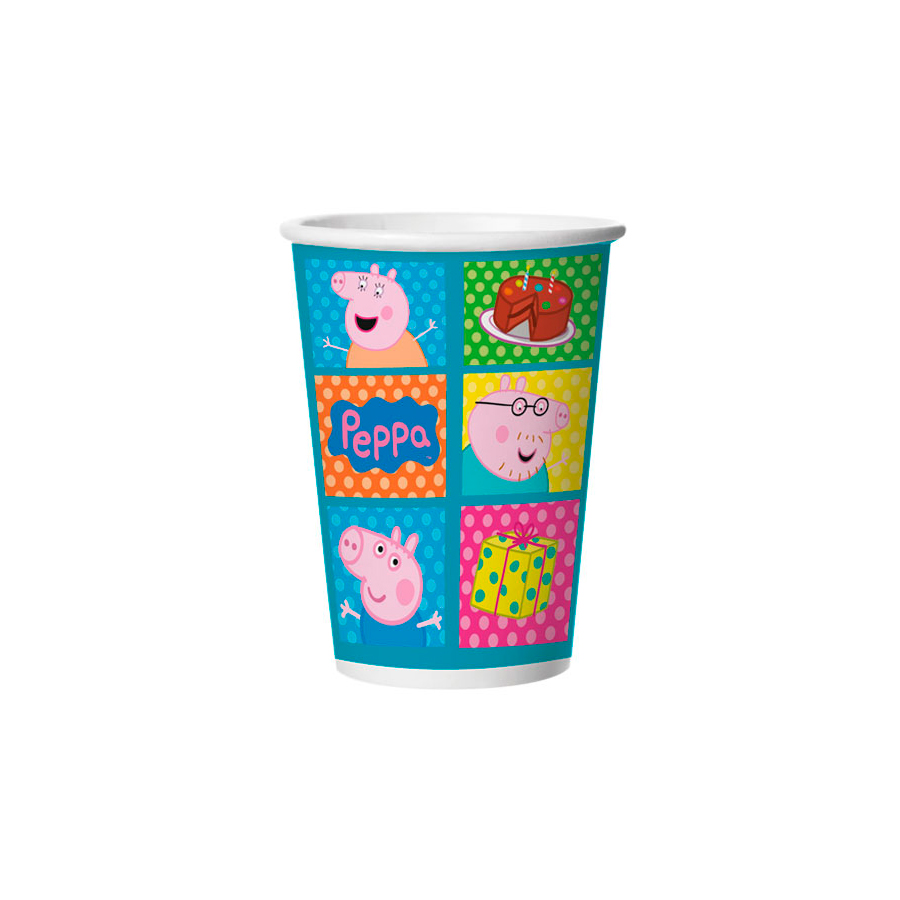 Copo Papel 330Ml Peppa 8Un