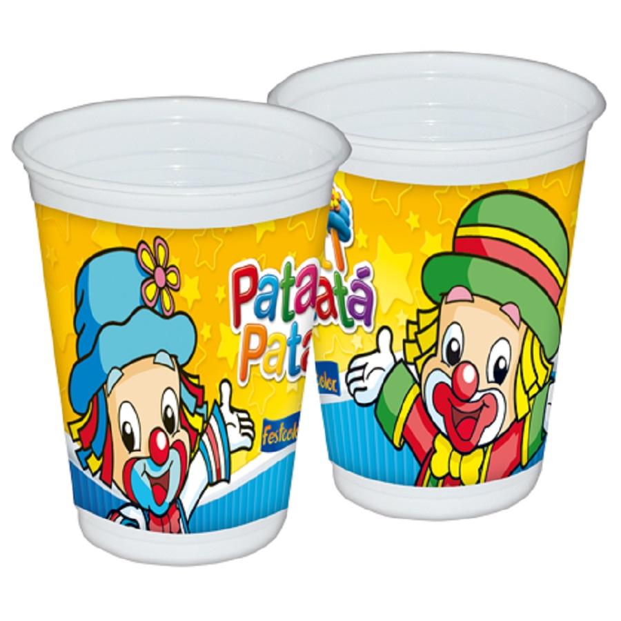 Copo Plástico 200Ml Patati Patatá 8Un