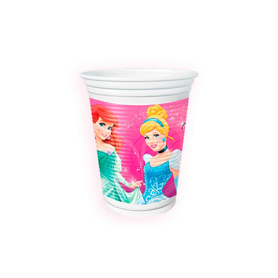 Copo Plástico 200Ml Princesas 8Un