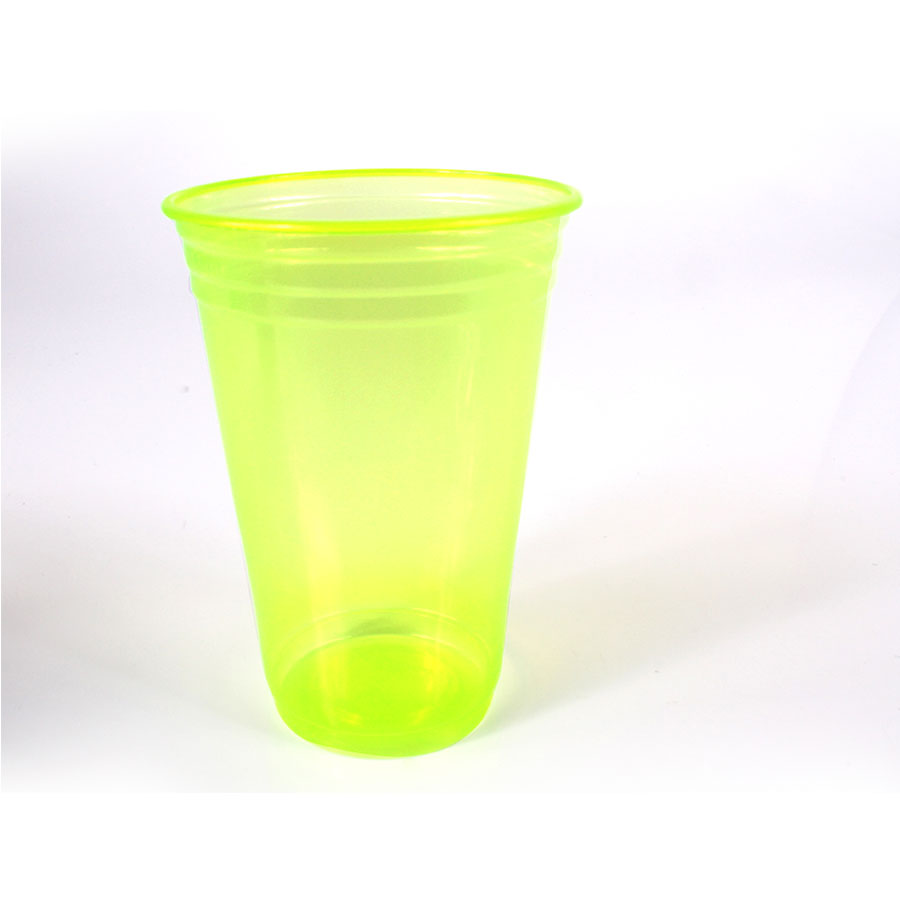 Copo Plástico Neon 300Ml C/25Un Limão