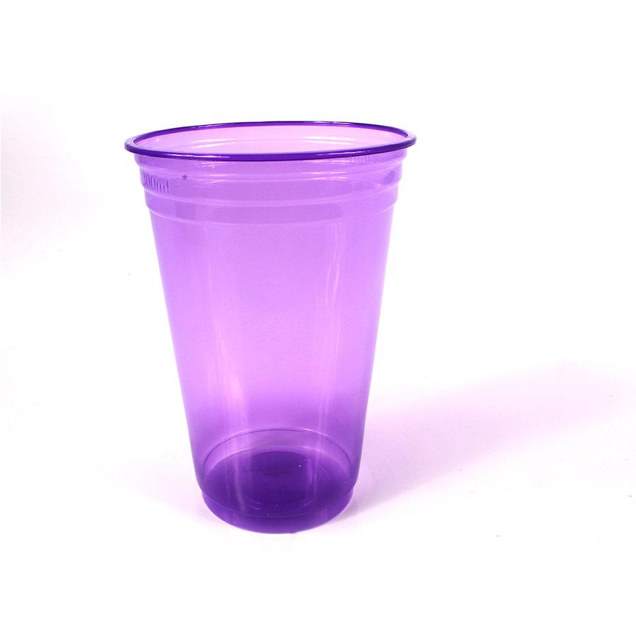 Copo Plástico Neon 300Ml C/25Un Roxo