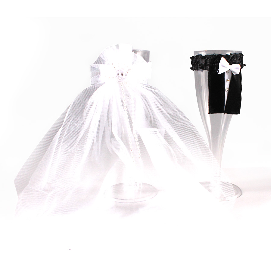 Enfeite Para Taça (Noivo E Noiva)