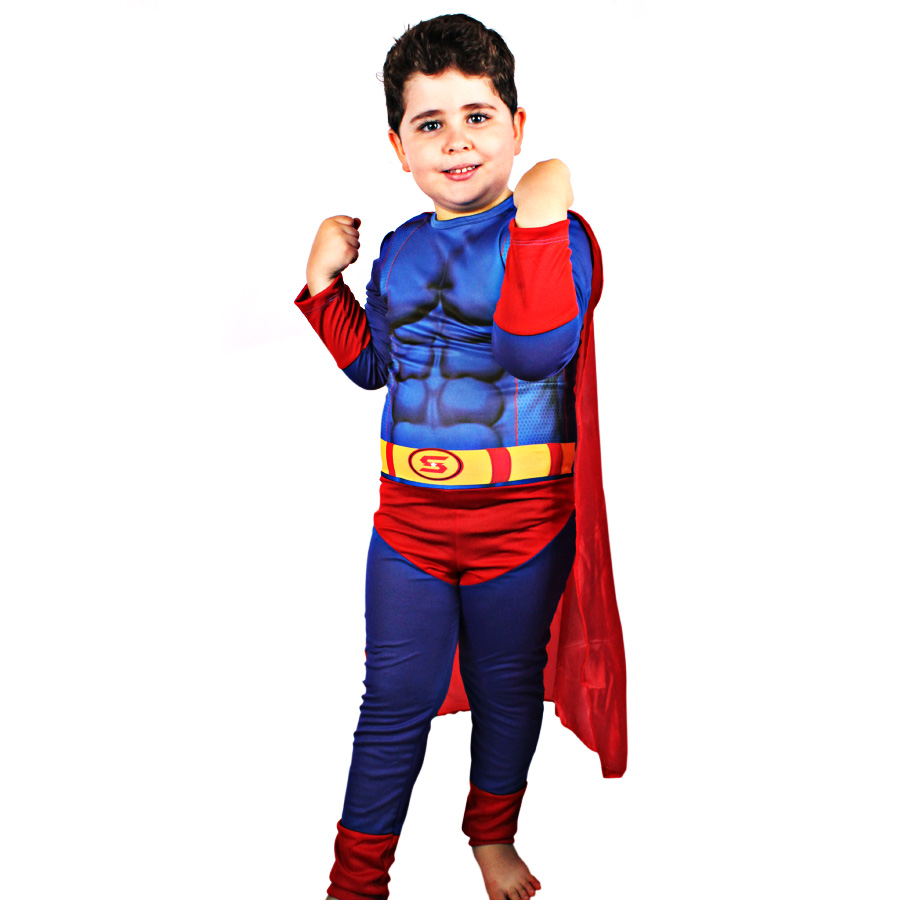 Fantasia Infantil Superman Longo