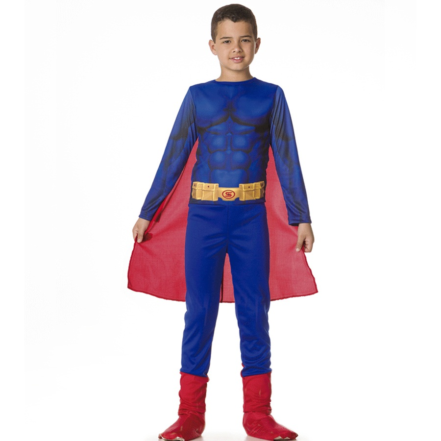 Fantasia Infantil Superman Longo